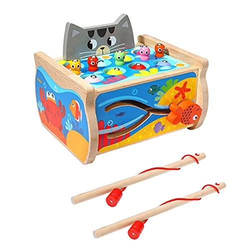 adfafw Magnetic Fishing Toy Game, Board Toy, Children's Fishing Bath Toys with Learning and Education Steadfast