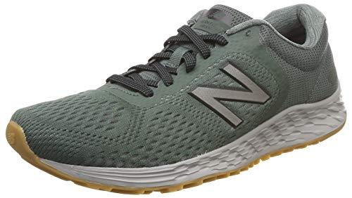 New Balance Men's Arishi V2 Fresh Foam Running Shoe, green/silver, 9 4E US