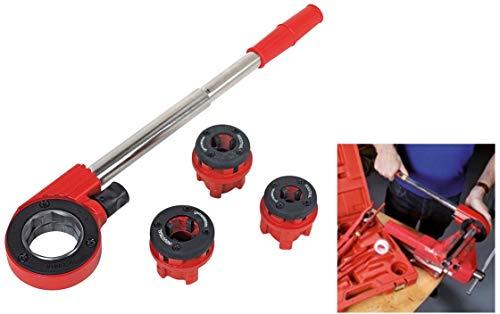 ROTHENBERGER Industrial Super Cut Premium Qualität - 6 teiliger Gewindeschneidkluppensatz - Inkl. 3 Schneidköpfen 070780X