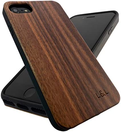 Wooden SE 2020 iPhone Case Real Walnut Wood Case for iPhone SE 2020 iPhone 6 iPhone 7 iPhone product image