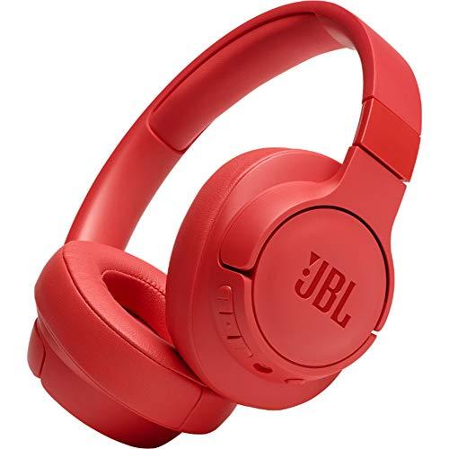 JBL TUNE700BT Cuffie Over-Ear Wireless Bluetooth, cuffia pieghevole senza fili per Musica, chiamate e Sport, fino a 27 h di autonomia, Rosso Rosa (Corallo)