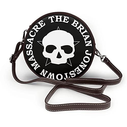 EDGHUOEIH The Brian Jonestown Massacre Logo Donna Pelle Rotonda Cross-body Borsa Del Telefono Cellulare Borsa A Tracolla PU