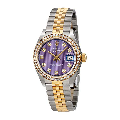 Rolex Lady Datejust Violet Stripe Diamond Dial Automatic Watch 279383VDJ