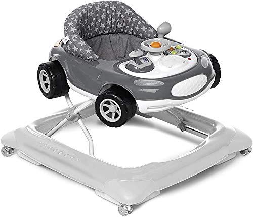 Seguridad primer paso caminante del bebé de asientos tapizados, jaula antivuelco,Grey