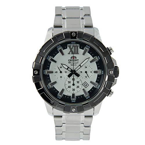 Orient Herren Chronograph Quarz Uhr mit Edelstahl Armband FTW03002W0