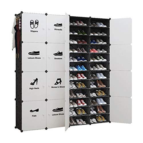 Estante de Zapatos Botas Organizador de almacenamiento Torre de zapato para Entrada Closet y dormitorio Cabinete de zapatos Bambú Rack Estantería Organizador para la Sala de Estar de Dormitorio