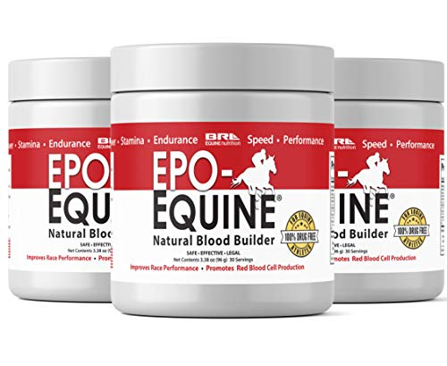 EPO-EQUINE - Natural EPO Red Blood Cell Supplement for Increases in Race Horses Performance and Endurance (30 Servings) (90 Servings (Save 25))