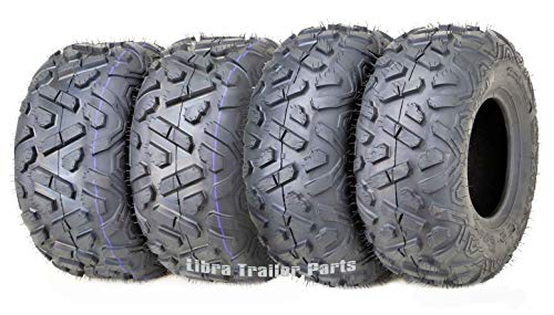Set of 4 WANDA ATV Tires 19X7-8 Front & 18X9.5-8 4PR Rear Big Horn Style …