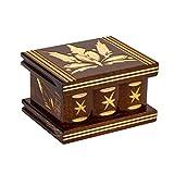 Carved Handmade Secret Wooden Box, Puzzle boxs Boxes The Secret Box, Jewelry Boxes Brain Puzzles, Box Lock Secret Puzzle Box - Size - 3.2'x2.8'x2'