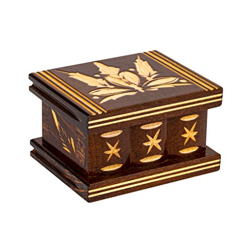Carved Handmade Secret Wooden Box, Puzzle boxs Boxes...