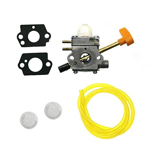 Carb Carburador 308054041 Junta de línea de aceite compatible para Homelite UT09520 UT09521 UT09523 UT09525 26CC Soplador para tornillos de carburador de motocicleta reemplazo de carburador