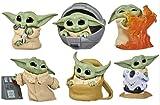 LIUZIZHPY 6Pcs/Set Baby Yoda Gifts PVC 2.21Inch Baby Yoda Doll, Yoda Car Decoration Gifts for Kids,aby Yoda Toys for Kids,Baby Yoda Action Figure