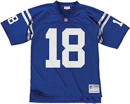 Mitchell & Ness Peyton Manning #18 Indianapolis Colts Legacy Throwback NFL Trikot Blau, XXL