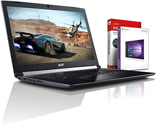Acer Ultra i7 SSD Gaming (17,3 Zoll Full-HD) Notebook (Intel Core i7 8550U mit 4 GHz, 8GB DDR4, 512GB SSD, NVIDIA Geforce MX 150 GDDR5, DVDR/RW, HDMI, Windows 10, MS Office) #6037