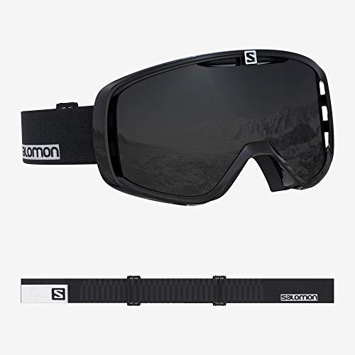 Salomon, Aksium, Máscara de esquí unisex, Negro-Blanco/Negro (Solar Black), L40515800