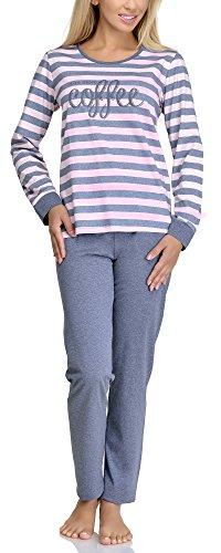 Merry Style Damen Schlafanzug 1023 (pink/grey, 38 (Herstellergröße: M))
