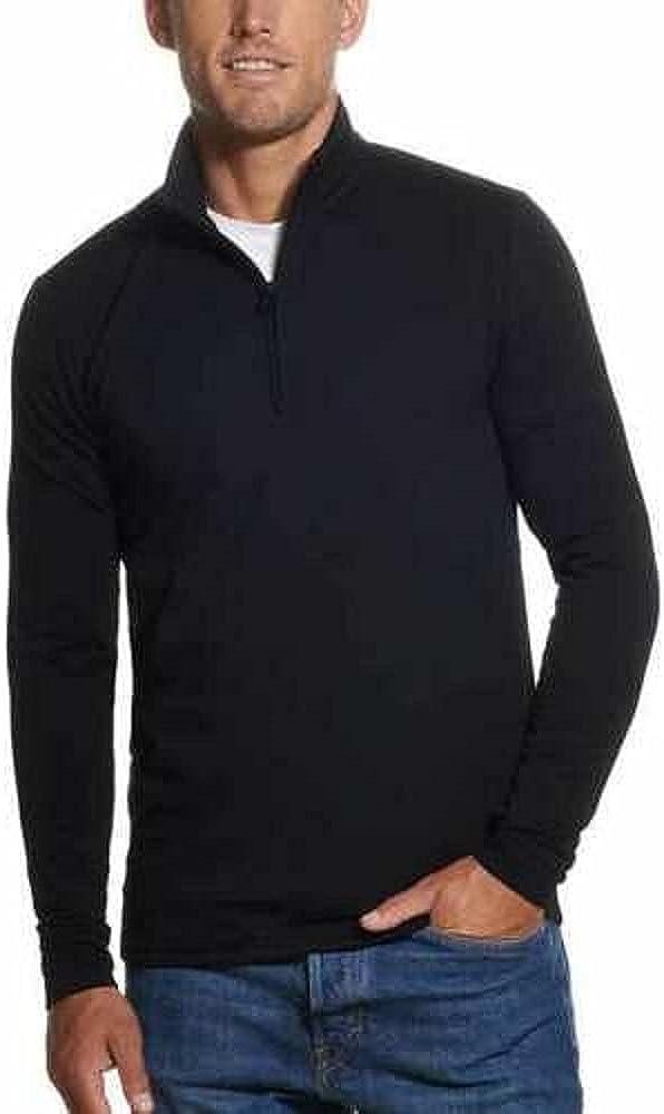 Weatherproof Vintage Men's Quarter Zip Pullover Black/XX-Large