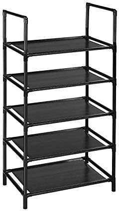 5 Tier Shoe Rack for Narrow Small Space Bookself Stackable Shoe Rack Organizer for 10 15 Pairs product image