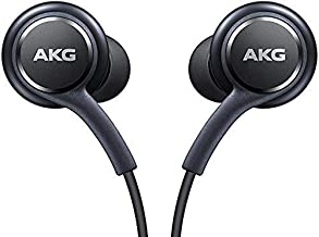 Chotec OEM Two(2) Amazing Stereo Headphones for Samsung Galaxy S8 S9 S8 Plus S9 Plus S10 Note 8 9 - Designed by AKG - with Microphone + Two Cable Tie Bundle Package - Non Retail Package