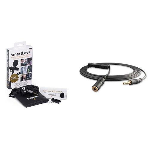 Rode smartLav+ Lavalier-Mikrofon für Smartphone/Tablet + Røde VC1 VerlängerungsKabel für Videomic Bundle