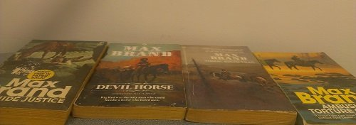 4 Volumes of Max Brand Western Novels: Rawhide Justice; Devil Horse; Timbal Gulch Trial; Ambush at Torture Canyon