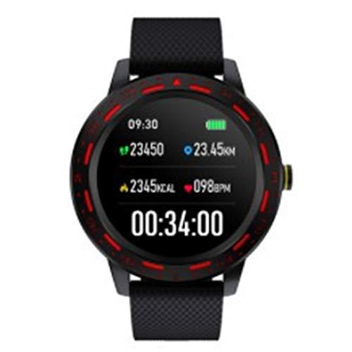 Wsaman Reloj Fitness Inteligente Fitness Tracker Deportivo Tracker Smartwatch Pulsera Actividad con Pulsómetro Cardíaco y Sueño, con Pantalla Táctil para Android/iOS/Mujer/Hombre,Black Red