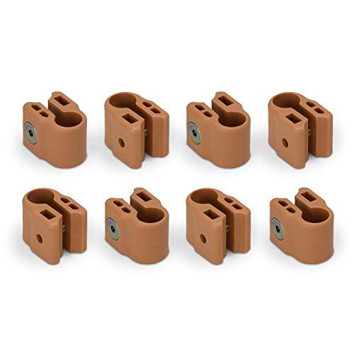 FabiMax 3632 Klemmen für die stufenlose Höhenverstellung des Laufgitterbodens, 8 Stück, beige