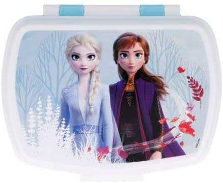 ILS I LOVE SHOPPING Contenitore Termico Porta merenda Scatola Sandwich Box per Bambini (Frozen II Blue Forest)