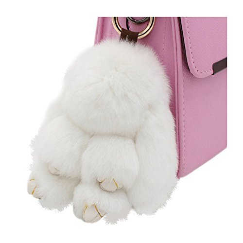 80Store Borsa 13CM Pendente di fascino del sacchetto più nuovo regalo di Natale eco-pelliccia svegli mini coniglio bambola portachiavi di auto delle donne Portachiavi