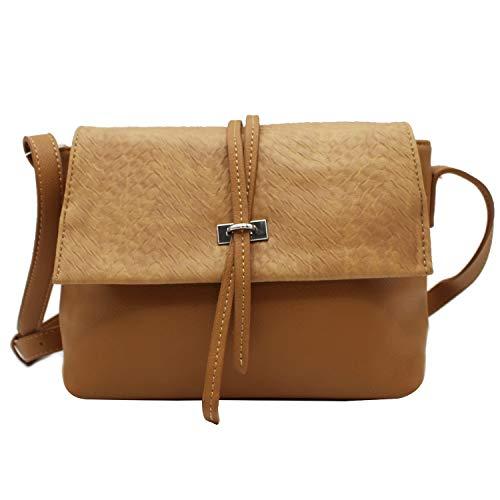MISEMIYA - Borsa a Tracolla Borse Tracolla Donna borsa a Tracolla donna SR-J506-1 (28 * 24 * 10) - Cammello