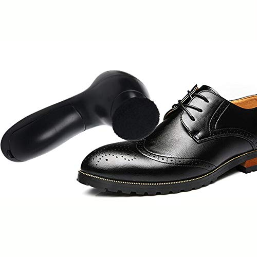 DGYAXIN Eléctrico Cepillo De Zapatos, Multifuncional Zapato Eléctrico Zapatos De Cuero Cepillo, con el Cepillo para Aceite Pulido Cepillo de Brillo Cepillo el Cepillo para Polvo,Black