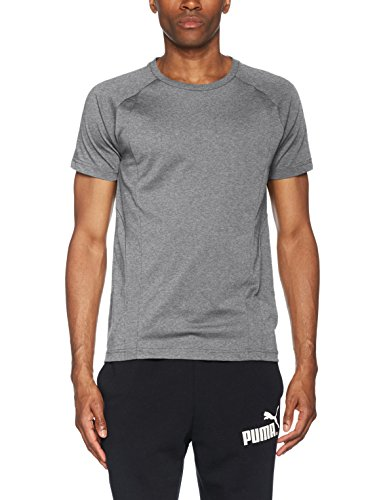 PUMA Herren Evostripe Basic Tee T-Shirt, Medium Gray Heather, L