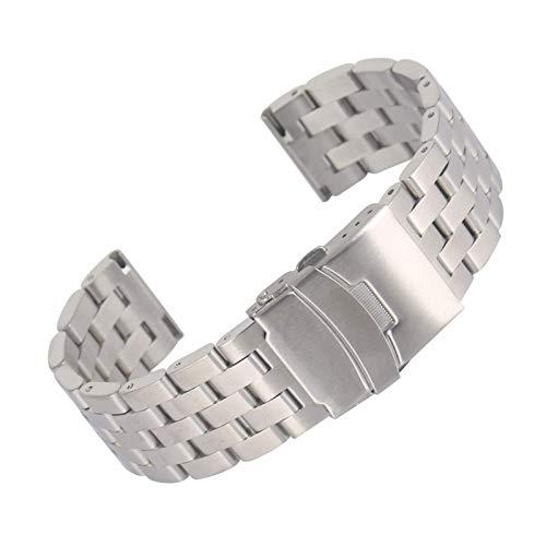 Acero inoxidable completo de 20 mm 22 mm de reloj de reloj de reloj de reloj de relojes de plata Relojes premium Pulsera Cierre plegable con seguridad Horloge Bandjes Reloj Correa correas de reloj ZJS
