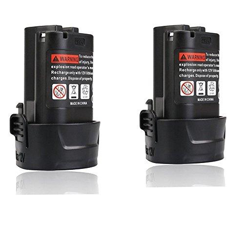 FLYLINKTECH 2.0Ah Makita 10.8v Battery for Makita BL1013 BL1014 194550-6 194551-4 LCT203W CL100DW DF330D TD090D ML100W Power Tools Drill(2 Pack) …