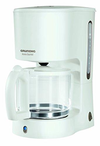 Grundig KM 4260 - Cafetera (Cafetera de filtro, 1,25 L, 1000 W, Oro, Blanco)
