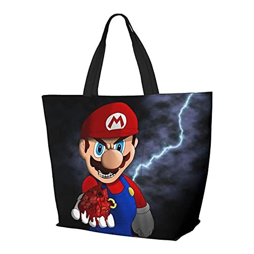 Bolsa de hombro multifuncional de gran capacidad para videojuegos, héroes de Mario