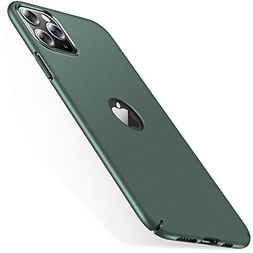 CASEKOO Slim Fit Compatible with iPhone 11 Pro Max Case, [Logo Visible] Ultra Thin Hard Plastic Phone Cases with Matte Finish, Anti-Fingerprint Cover 6.5-inch 2019 Midnight Green