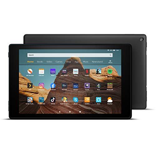 Fire HD 10 Tablet, Certified Refurbished, 32 GB, Black — 10.1-inch 1080p Full HD display, with Ads