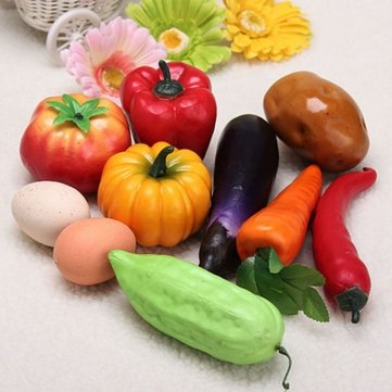 Plastique de Souked légumes artificiels modernes Accueil Décorations