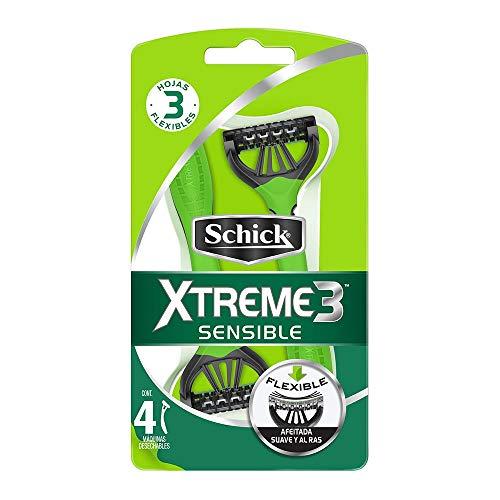 SCHICK Xtreme3 Sensitive 4 pz, color, 1 count, pack of/paquete de 1