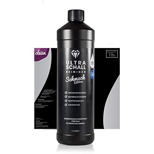 Ultraschallreiniger Konzentrat – Schmuck Edition 1 Liter – Reinigungskonzentrat für jedes Ultraschallreinigungsgerät, Ultraschallbad (1000ml)