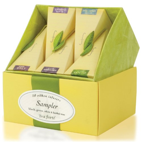 Tea forté Tea Tasting Assortment - Petite Presentation Box mit 10 Tee-Pyramiden, 1er Pack ( 1 x 29,5 g)