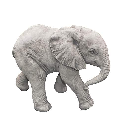 gartendekoparadies.de Massive Steinfigur Afrikanischer Elefant Weibchen Gartendeko Raumdeko aus Steinguss frostfest