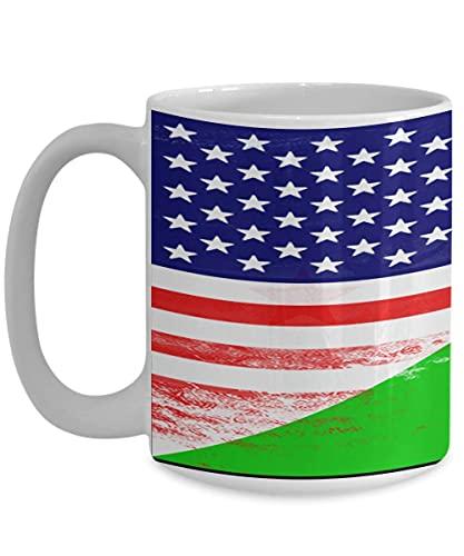 N\A USA Dschibuti Flagge Afrika Afrikanische weiße Kaffeetasse Teetasse