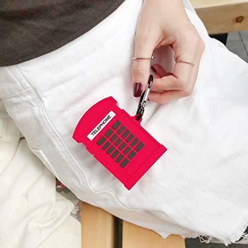 SevenPanda Britisch Airpod Hülle für Apple Airpods 1 & 2, Cute 3D Funny Cartoon Weiche Silikonhülle, Fun Cool Keychain Skin, Fashion Color Hülle für Mädchen Kinder Jungen Air pods - Telefonzelle