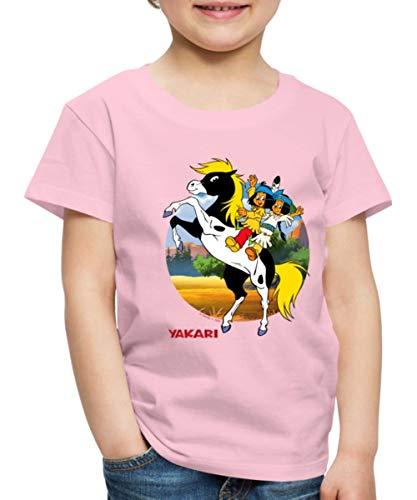 Yakari Kleiner Donner Kinder Premium T-Shirt, 98-104, Hellrosa