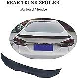 NB-LY Alerón Trasero del automóvil Negro, Utilizado para el ala de la Tapa del Maletero del Nuevo Modelo Ford Mondeo Fusion 2017-2019, Borde de extensión del Techo Modificado con Fibra de Carbono GM
