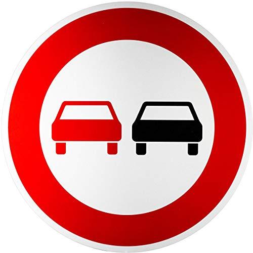 ORIGINAL Verkehrszeichen 276 * Überholverbot für Kraftfahrzeuge aller Art * Verkehrsschild Schild Strassenschild Schilder StVO Gebotsschild Straßenzeichen mit RAL Gütezeichen 600 mm 60 cm
