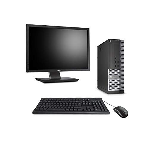 Dell Optiplex 7020 SFF + pantalla de 22 pulgadas, color negro (Intel Core i3-4150/3,50 GHz, 4 GB de RAM, disco duro de 500 GB, reproductor de DVD, Windows 10 profesional)