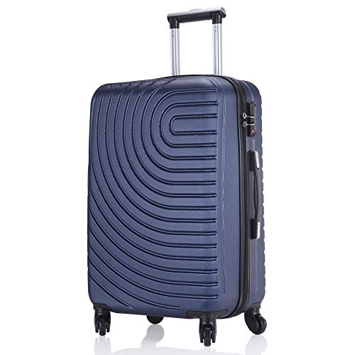 レーズ(Reezu) スーツケース ジッパー 超軽量 キャリーケース ファスナー式 機内持込 キャリーバッグ 大型 キャリーバック 耐圧擦り傷防止 TSAロック付 旅行出張 静音 人気 1年保証 Blue ブルー Mサイズ 約54L